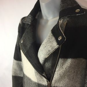 New Look Plaid Moto Style Jacket - Sz S